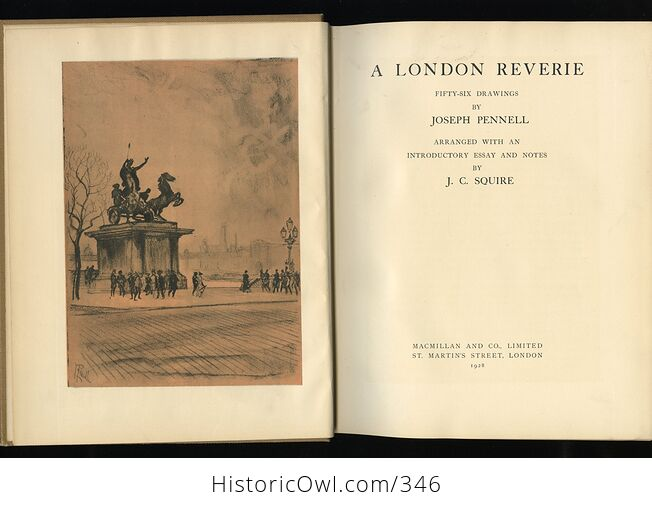 A London Reverie Antique Illustrated Book by Joseph Pennell C1928 - #oEZ1u4EXky4-2