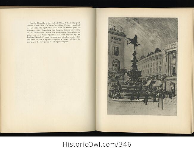 A London Reverie Antique Illustrated Book by Joseph Pennell C1928 - #oEZ1u4EXky4-3