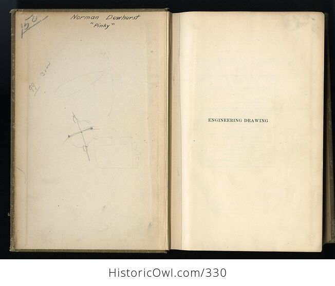 A Manual of Engineer Drawing for Students and Draftsmen Antique Book by Thomas E French C1924 - #IcJxkuLlgs8-3