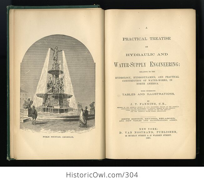 A Practical Treatise on Hydraulic Engineering and Manual for Water Supply Engineers by J T Fanning C1887 - #GuYBZJEylTo-5