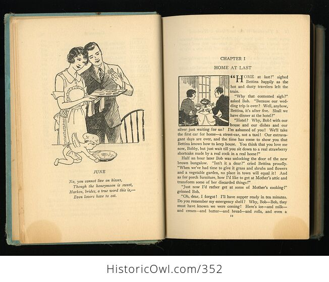 A Thousand Ways to Please a Husband with Bettinas Best Recipes Antique Illustrated Book by Louise Bennett Weaver and Helen Cowles Lecron C1932 - #wrJQLSo9K2g-9