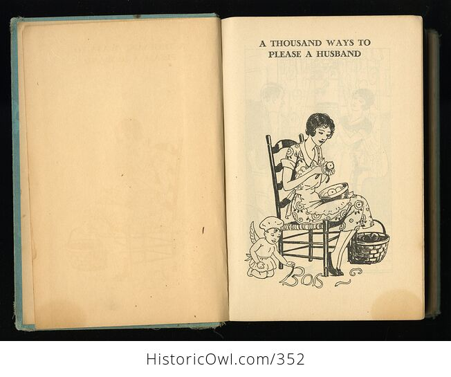 A Thousand Ways to Please a Husband with Bettinas Best Recipes Antique Illustrated Book by Louise Bennett Weaver and Helen Cowles Lecron C1932 - #wrJQLSo9K2g-3