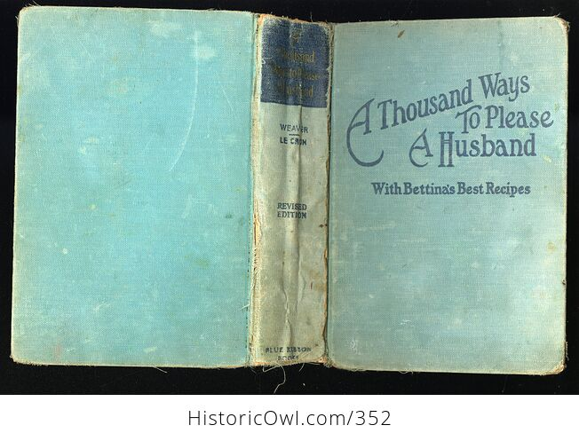 A Thousand Ways to Please a Husband with Bettinas Best Recipes Antique Illustrated Book by Louise Bennett Weaver and Helen Cowles Lecron C1932 - #wrJQLSo9K2g-2
