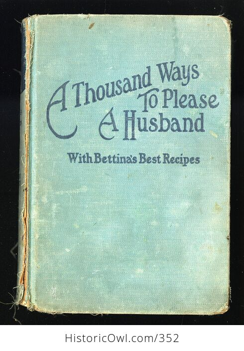 A Thousand Ways to Please a Husband with Bettinas Best Recipes Antique Illustrated Book by Louise Bennett Weaver and Helen Cowles Lecron C1932 - #wrJQLSo9K2g-1