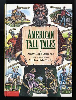 American Tall Tales Book by Mary Pope Osborne with Wood Engravings by Michael Mccurdy Schoolastic C1991 #deK04wgSfco