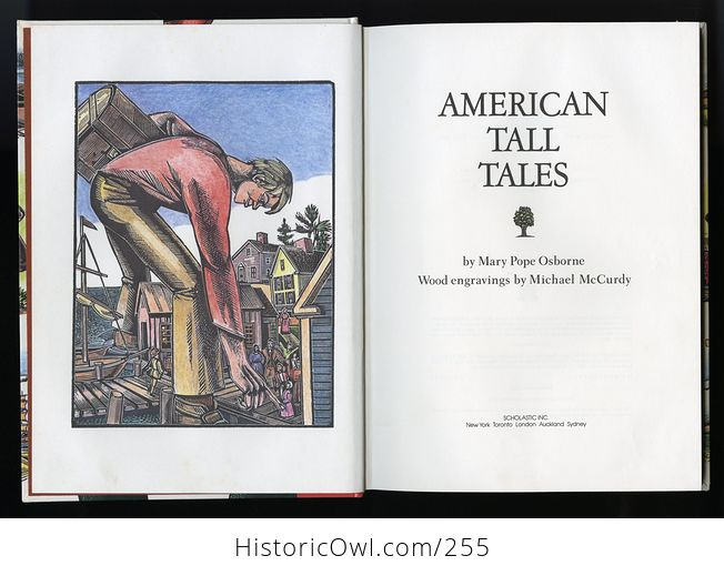 American Tall Tales Book by Mary Pope Osborne with Wood Engravings by Michael Mccurdy Schoolastic C1991 - #deK04wgSfco-3