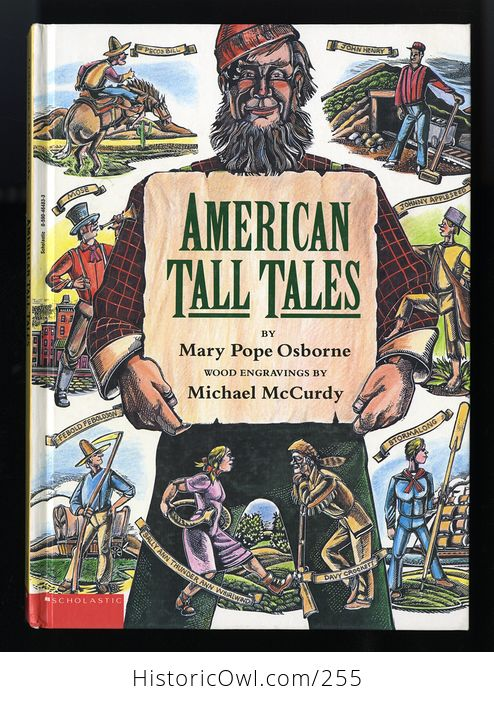 American Tall Tales Book by Mary Pope Osborne with Wood Engravings by Michael Mccurdy Schoolastic C1991 - #deK04wgSfco-1