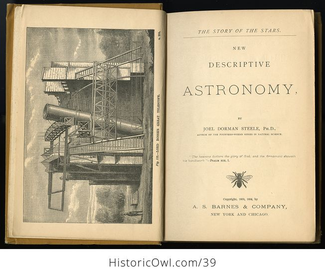 Antique Book the Story of the Stars New Descriptive Astronomy or Steeles New Astronomy C 1884 - #qYtfxGOSzoo-10