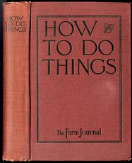 Antique Farming Book How to Do Things by the Farm Journal C1919 #Km1sup9dfNE
