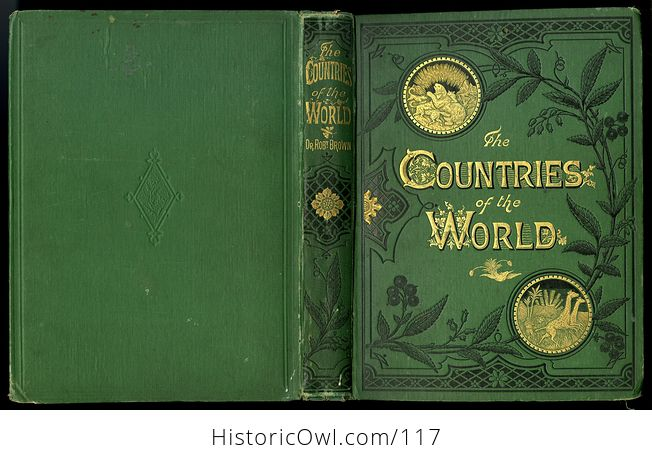 Antique Illustrated Book 3 Volumes the Countries of the World by Robert Brown - #M0oOg9mzP0A-11