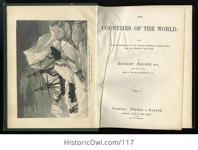 Antique Illustrated Book 3 Volumes the Countries of the World by Robert Brown - #M0oOg9mzP0A-4
