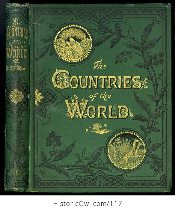 Antique Illustrated Book 3 Volumes the Countries of the World by Robert Brown - #M0oOg9mzP0A-1