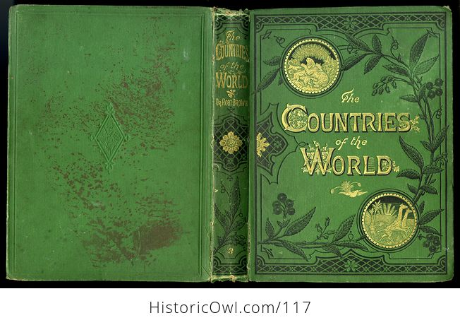 Antique Illustrated Book 3 Volumes the Countries of the World by Robert Brown - #M0oOg9mzP0A-3