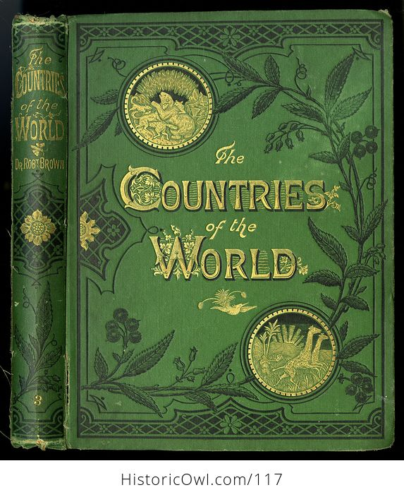 Antique Illustrated Book 3 Volumes the Countries of the World by Robert Brown - #M0oOg9mzP0A-6