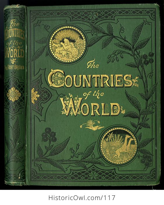 Antique Illustrated Book 3 Volumes the Countries of the World by Robert Brown - #M0oOg9mzP0A-12
