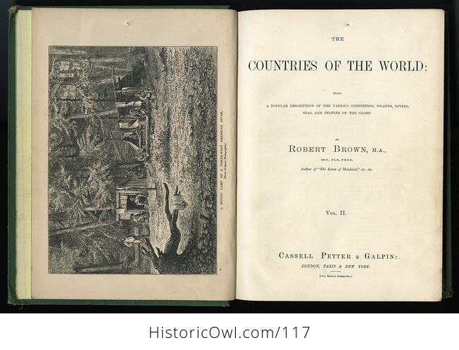 Antique Illustrated Book 3 Volumes the Countries of the World by Robert Brown - #M0oOg9mzP0A-10