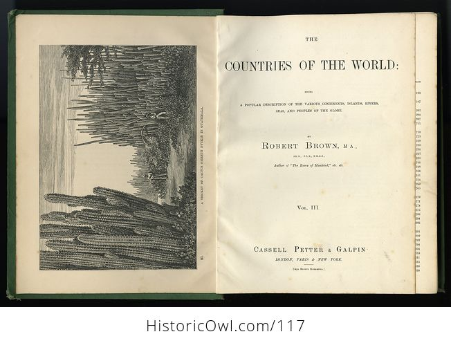 Antique Illustrated Book 3 Volumes the Countries of the World by Robert Brown - #M0oOg9mzP0A-2
