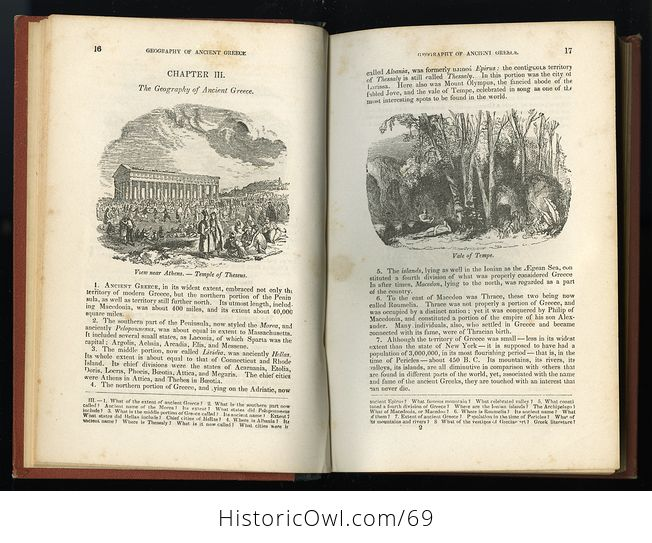Antique Illustrated Book a Pictorial History of Greece Ancient and Modern by S G Goodrich C1881 - #QZVYxi4XIvU-7