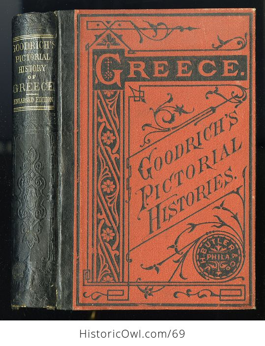 Antique Illustrated Book a Pictorial History of Greece Ancient and Modern by S G Goodrich C1881 - #QZVYxi4XIvU-1