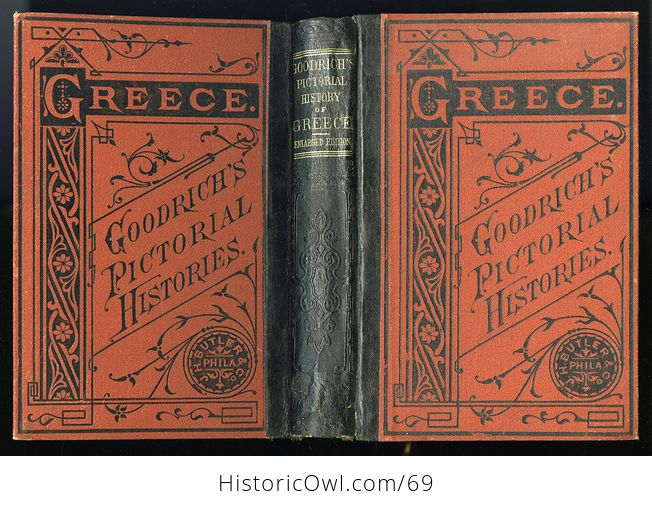 Antique Illustrated Book a Pictorial History of Greece Ancient and Modern by S G Goodrich C1881 - #QZVYxi4XIvU-2