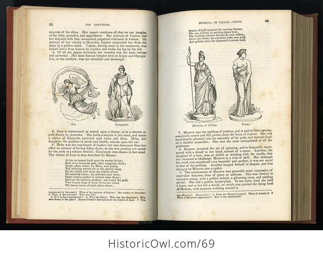 Antique Illustrated Book a Pictorial History of Greece Ancient and Modern by S G Goodrich C1881 - #QZVYxi4XIvU-9