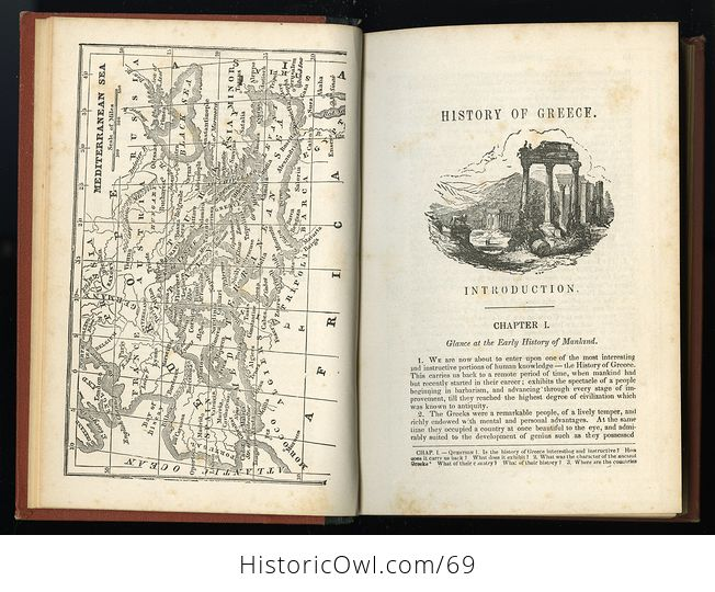 Antique Illustrated Book a Pictorial History of Greece Ancient and Modern by S G Goodrich C1881 - #QZVYxi4XIvU-6