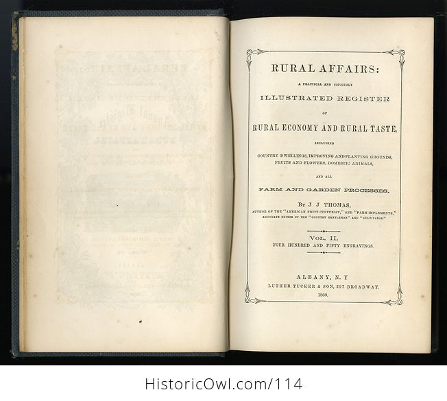 Antique Illustrated Book Annual Register of Rural Affairs for 1858 9 60 Vol Ii C1860 - #OjetYY0kTfQ-4