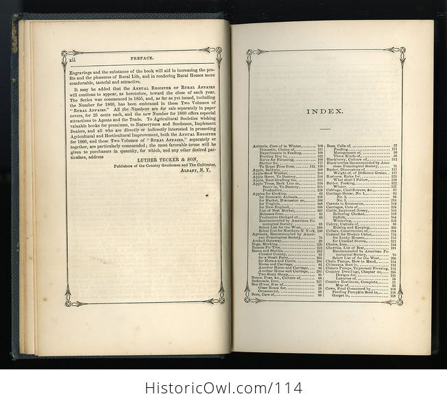 Antique Illustrated Book Annual Register of Rural Affairs for 1858 9 60 Vol Ii C1860 - #OjetYY0kTfQ-5