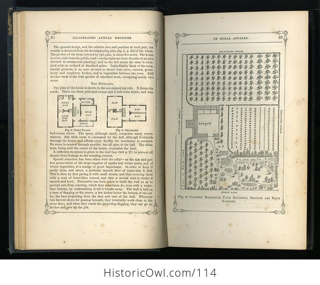 Antique Illustrated Book Annual Register of Rural Affairs for 1858 9 60 Vol Ii C1860 - #OjetYY0kTfQ-8