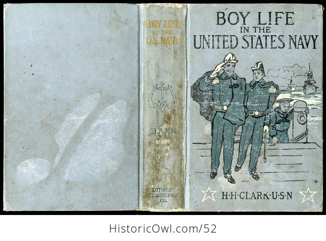 Antique Illustrated Book Boy Life in the United States Navy by H H Clark C1885 - #sFeB0yktOng-4