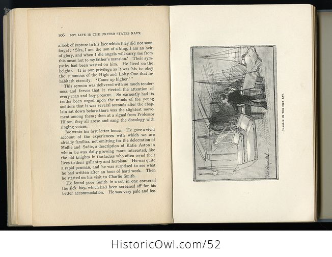 Antique Illustrated Book Boy Life in the United States Navy by H H Clark C1885 - #sFeB0yktOng-10