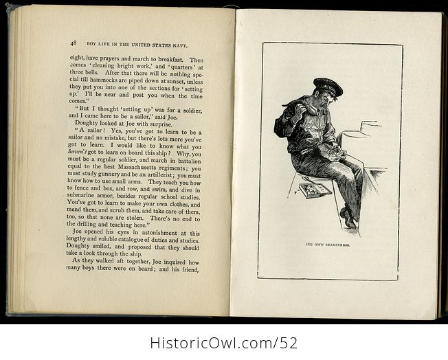 Antique Illustrated Book Boy Life in the United States Navy by H H Clark C1885 - #sFeB0yktOng-7