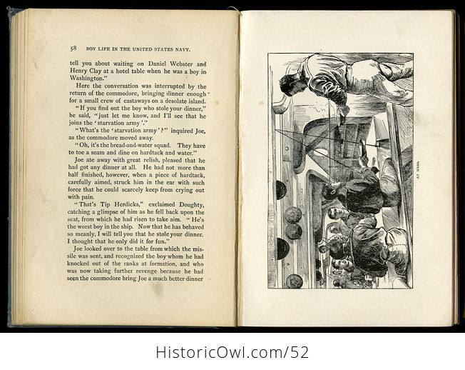 Antique Illustrated Book Boy Life in the United States Navy by H H Clark C1885 - #sFeB0yktOng-8