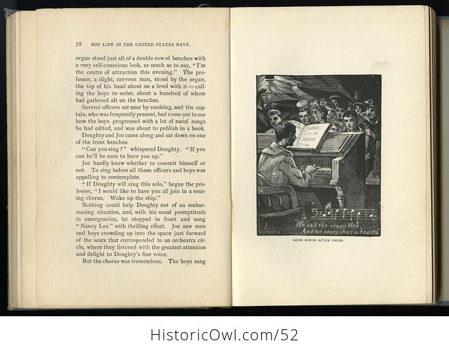 Antique Illustrated Book Boy Life in the United States Navy by H H Clark C1885 - #sFeB0yktOng-9