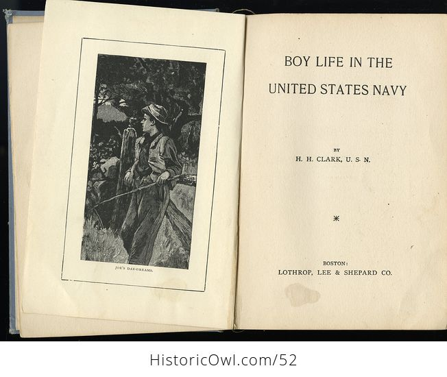 Antique Illustrated Book Boy Life in the United States Navy by H H Clark C1885 - #sFeB0yktOng-6