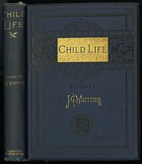 Antique Illustrated Book Child Life a Collection of Poems by John Greenleaf Whittier C1871 #KtSYMwgcvOA