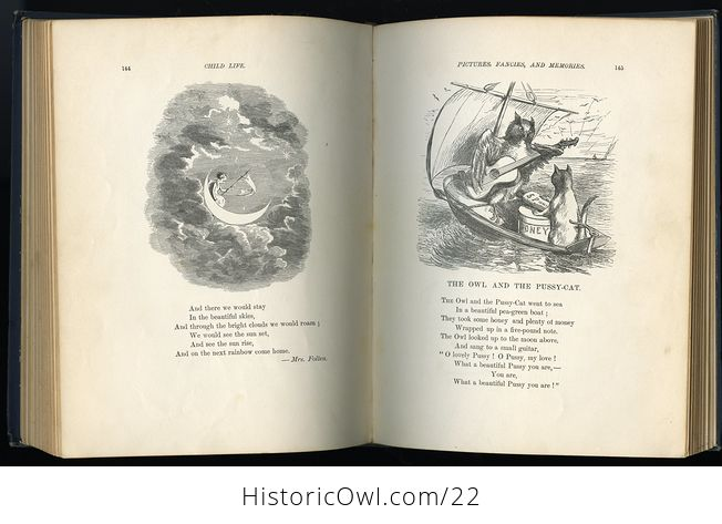 Antique Illustrated Book Child Life a Collection of Poems by John Greenleaf Whittier C1871 - #KtSYMwgcvOA-3