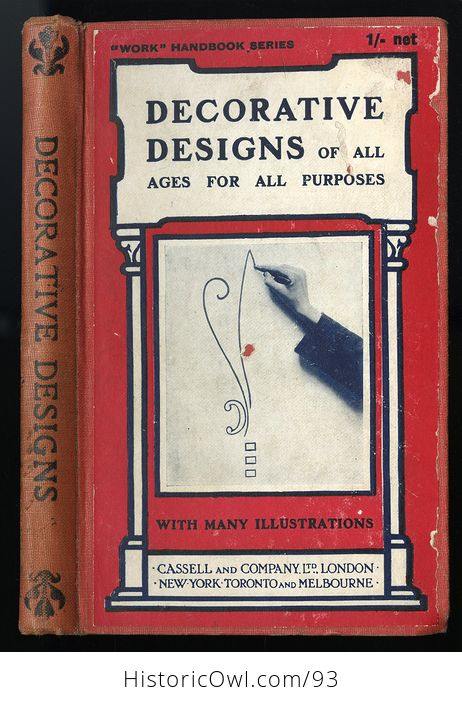 Antique Illustrated Book Decorative Designs of All Ages for All Purposes Edited by Paul N Hasluck C1913 - #Nhzc2ZZXx4Y-1