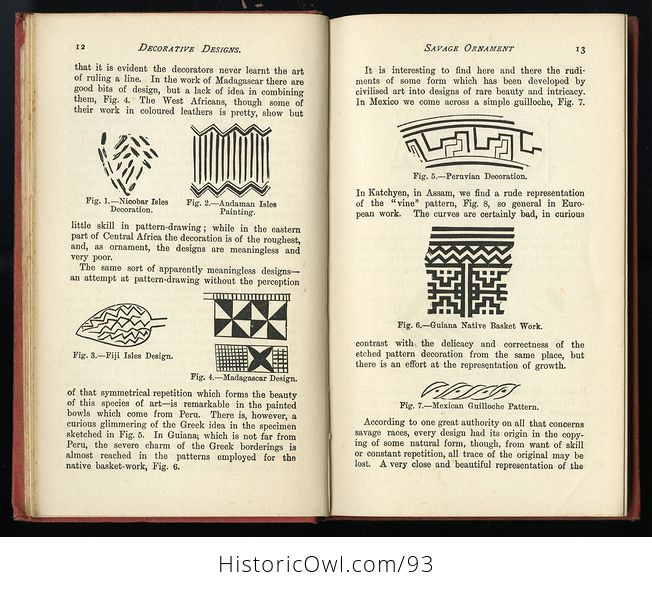 Antique Illustrated Book Decorative Designs of All Ages for All Purposes Edited by Paul N Hasluck C1913 - #Nhzc2ZZXx4Y-7