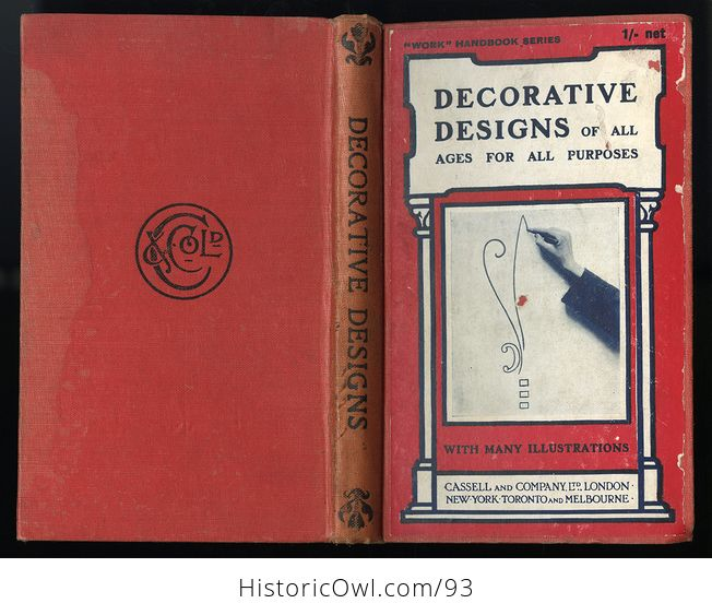 Antique Illustrated Book Decorative Designs of All Ages for All Purposes Edited by Paul N Hasluck C1913 - #Nhzc2ZZXx4Y-10