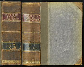 Antique Illustrated Book in Two Volumes Cyclopedia of Useful Arts and Manufactures by Charles Tomlinson C1854 #NDna35Dw6nA