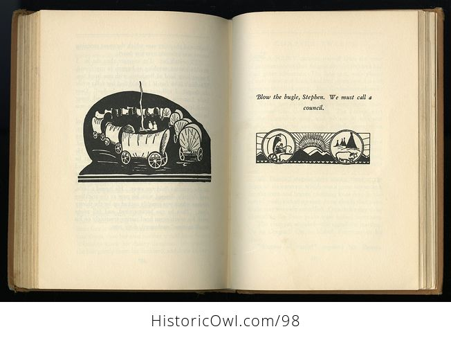 Antique Illustrated Book Lucretia Ann on the Oregon Trail by Ruth Gibson Plowhead C 1931 - #KYsxD3sPUVE-2