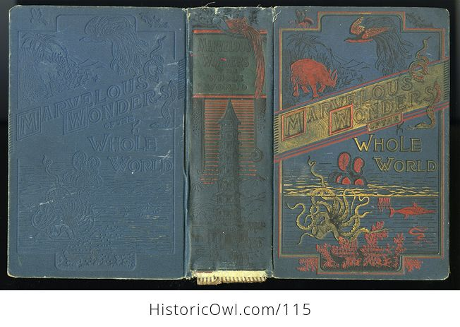 Antique Illustrated Book Marvelous Wonders of the Whole World C1886 - #wJlNpWQywwk-2