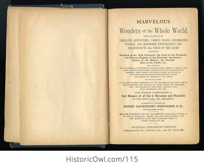 Antique Illustrated Book Marvelous Wonders of the Whole World C1886 - #wJlNpWQywwk-4