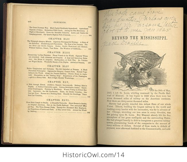 Antique Illustrated Book of Beyond the Mississippi by Albert D Richardson C 1867 - #nsk8M6JwxlE-7