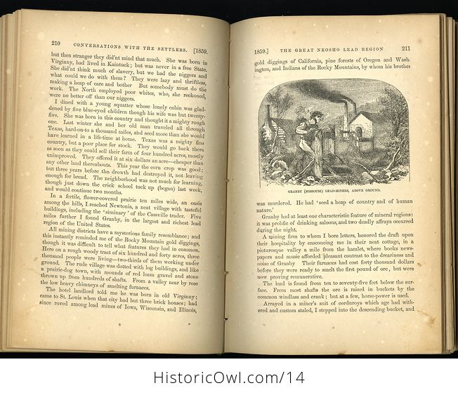 Antique Illustrated Book of Beyond the Mississippi by Albert D Richardson C 1867 - #nsk8M6JwxlE-5