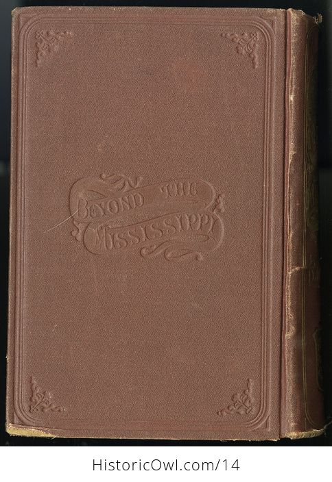 Antique Illustrated Book of Beyond the Mississippi by Albert D Richardson C 1867 - #nsk8M6JwxlE-2