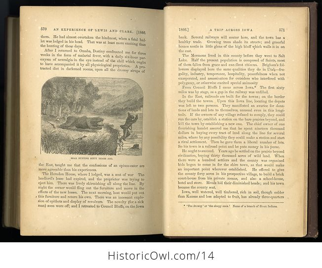 Antique Illustrated Book of Beyond the Mississippi by Albert D Richardson C 1867 - #nsk8M6JwxlE-3