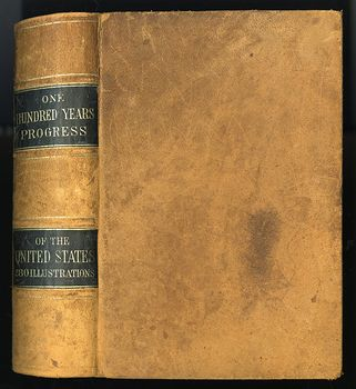 Antique Illustrated Book One Hundred Years Progress of the United States Published by L Stebbins C1871 #UEkR6W3DXtM