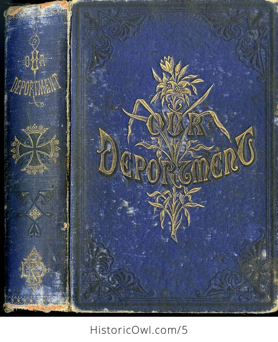 Antique Illustrated Book Our Deportment or the Manners Conduct and Dress of the Most Refined Society by John Young C1882 - #UKgterTqQMA-1